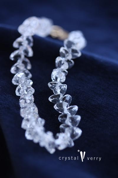 ハート ブリリアントカット ブレスレット 水晶 クリスタル