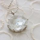18金18Kレインボー水晶ペンダント