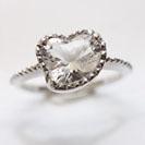 18金18K水晶指輪リング