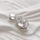 18金18Kハーキマーダイヤモンドペンダント