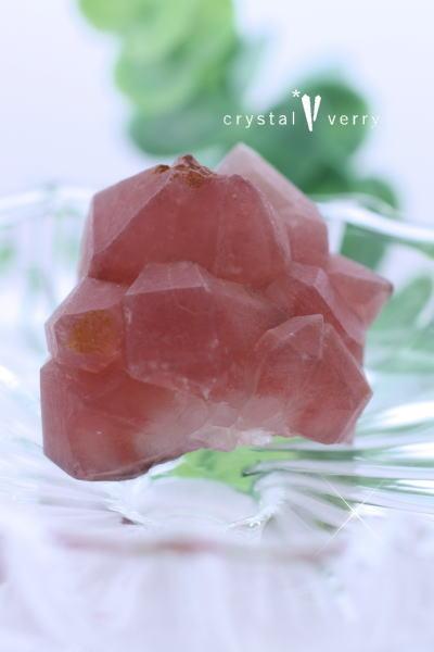 ストロベリークォーツ 原石クラスター 天然石