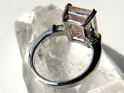 ストロベリークォーツ パワーストーン  ダイヤモンド 指輪 リング