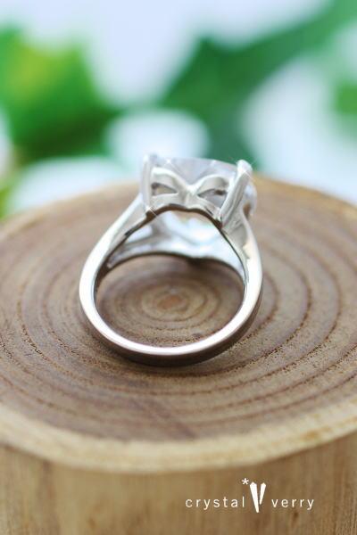 水晶 ハート クリスタル パワーストーン 指輪 リング