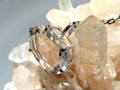 水晶 クリア パワーストーン ペンダント ホワイトゴールド