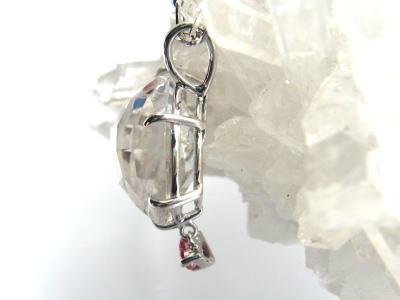 レインボー水晶 ピンクトルマリン パワーストーン ペンダント K18
