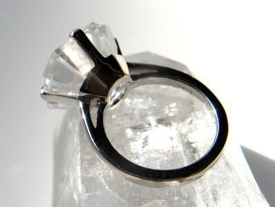 水晶 クリスタル 指輪 18金