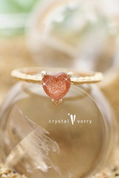 ストロベリークォーツ パワーストーン 天然石 ジュエリー 指輪