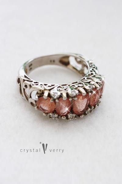 ストロベリークォーツ 水晶 苺 パワーストーン 指輪 リング