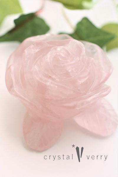 ローズクォーツ 薔薇 バラ 天然石 パワーストーン 愛のお守り