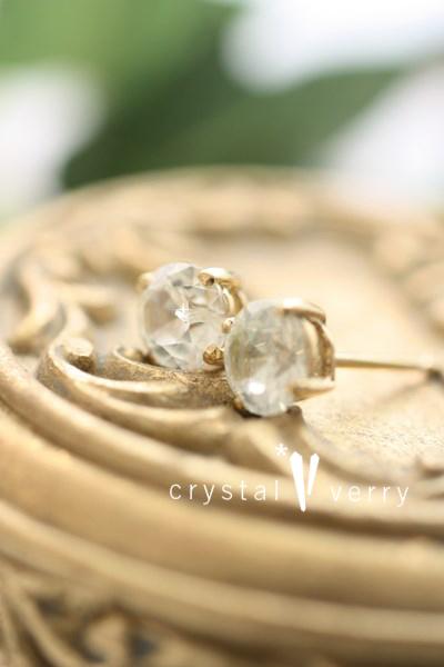 ジルコン ダイヤモンド ピアス 天然石 パワーストーン