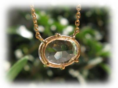 水晶 18金 ペンダント 天然石 パワーストーン