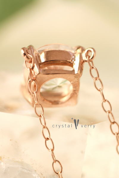 ハーキマーダイヤモンド 水晶 ニューヨーク ピンクゴールド