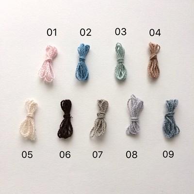 小 色見本 毛糸 編みぐるみ 馬 チャーム