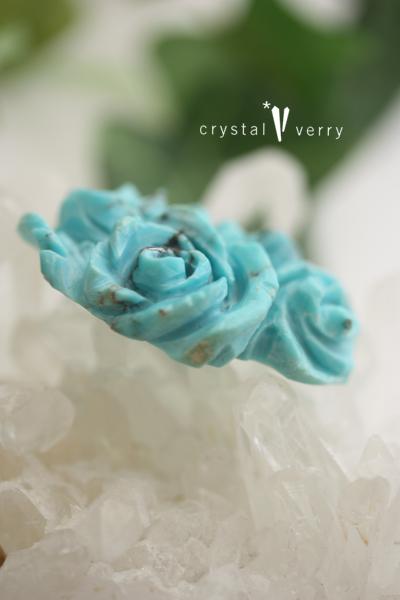 天然ターコイズ 薔薇 ルース